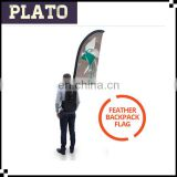 PLATO wholesale teardrop backpack advertsing flag,windmill printing walking backpack banner,moving backpack feather flag