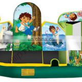 bouncer slide inflatable toys, slide jumper, cheap inflatables C6009