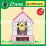 Hot sale house shape battery powered alarm clock