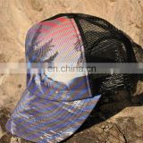 sublimated caps - full sublimated Custom designs Cotton mesh Baseball Snap back Caps - fashion sports cap