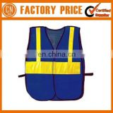 2017 Top Quality Blue Reflective Mesh Safety Vest