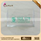 Hot custom size transparent clear acrylic business name card holder