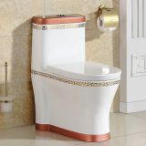 Modern ceramic waterclose red colored siphonic new toilet