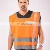 Fashion high visible reflective safety orange t-shirt