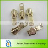 High quality gold metal zipper puller for garment