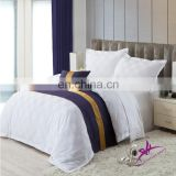 Hot sale hotel white 250/300/350/400 thread count flat sheet