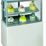 Three-sided Glass Food Display Cooler For Fast Food Outlets