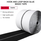 100% polyester self adhesive hook and loop with strong rubber adhesive glue