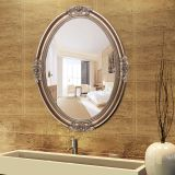 PU European Antique Design Gold Wall Mirror Decorative Gold Oval Wall Mirror