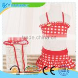cute baby tankinis swimwear suit for wholesale/lovely strawberry design swimsuit