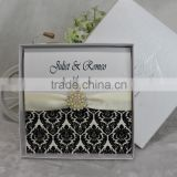 2016 New Design Cutomized with Box Wedding Invitation Card Luxury                                                                         Quality Choice
