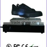 Max.1KGS magnetic levitating rotating display for shoes, levitating rotating pop display with light