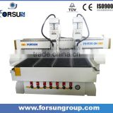 Double heads furnitures making cnc router machine /arts and crafts making cnc router with two heads FS1530A-2H