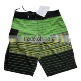 Custom-made Men's Striped Bermuda Shorts with Logos