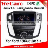Wecaro WC-FF8088 Android 4.4.4 car dvd player indash ford focus car radio with gps bluetooth 2015 mirror link
