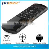 Wireless Air mouse, 2.4GHz Mini keyboard +wireless microphone+ IR study remote contro+Voice function ,ect. wireless air mouse