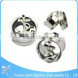 Professional factory stainless steel body piercing internally threaded anchor tunnel plugs