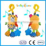 Babyfans Baby Cute Bear Shaped Plush Music Voice Flexible Puppet Educational Hanging Toys china factory wholesale