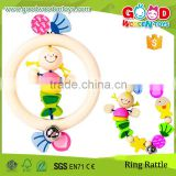 EN71 Approved Handmade Touch Ring Lovely Design Wood Mini Toys For Kids                                                                         Quality Choice