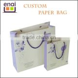 Promotional paper packaging bag with handle for vegetable
