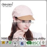 Lace and Straw Hat Wholesale Lady Newsboy cap