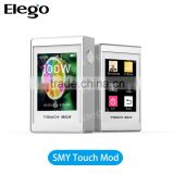 Elego Top Selling TC Mod Original SMY 100W Touch TC Mod VS JoyeTech eVic VTC Mini