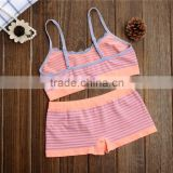 Young Girl Camisole Seamless Underwear Set Top Tank&Boxer shorts