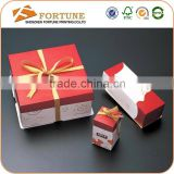Custom Box Packaging For Wedding, Ribbon Bow Tie Wedding Cake Boxes Wholesale