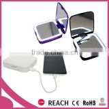 Smart power bank mirror with magnification and led lights / beauty hair salon lighted mirror with power bank