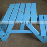 wooden table and stool for seat