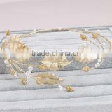 Women fashion hair accessories handmade hair jewelry gold leaves headbands                                                                         Quality Choice