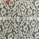 TH-8877 warp-knitted type lace fabric with high quality lady garment material lace fabric