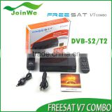 Freesat V7 Combo Dvb-s2+t2 Full 1080p Hd Satellite Receiver Free Porn Video Iptv Set Top Box Box Support Powerv