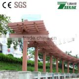 Easy install WPC pergola from China, waterproof WPC materials,, anti-UV, with steel insert