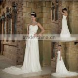 Romantic sweetheart neck Chapel CLassic chiffon wedding dress XYY03-007