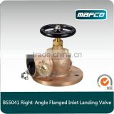 BS5041Bonze Flanged Angle Fire Hydrant Landing Valve