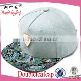 Wholesale Material for Snapback Cap Custom Plain Black Snapback Cap