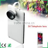 Cell phone lens 5X Super Telephoto Detachable Clip on Camera Lens for Apple iPhone Samsung