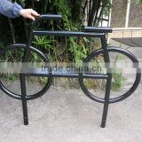 Black powder coated bicycle bike work stand bicycle rear rack