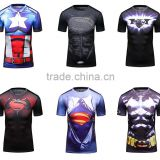women custom fashion t-shirt 3d sublimation printing polyester t shirt 2016 wholesale men clothing