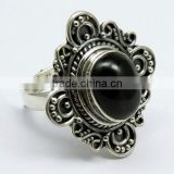 Night Queen !! Oxidize Black Star 925 Sterling Silver Ring, Indian Fashion Silver Jewellery, Silver Jewellery Supplier