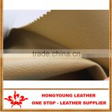 Fashionable 100% pig skin pu leather syntheic for making shoe upper,from hongyoung leather