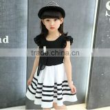 Child baby dress model Sleeveless Striped With Pearl Necklace 1-3 Year old girl dress