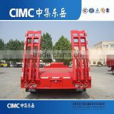 CIMC Lowbed Tractor Trailer, 3 Axle Low Bed Construction Trailer On Low Price