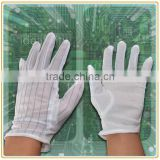 lint free Cleanroom ESD PVC dotted gloves
