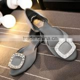 2016 Fashion Ladies shoes Flat Crystal buckle Shoes Wedding Party Rhinestone Shoes for Women