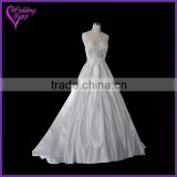 TOP SELLING!!! OEM Factory Custom Design wonderful bridal dress gathered bust wedding dress
