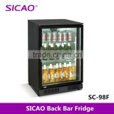 Aluminum Sheet Glass door cooler, bar fridge beer coolers hot sale 1 door display drinks cooler