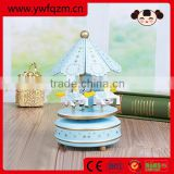 Hot selling music box movement, carousel horse wooden music box