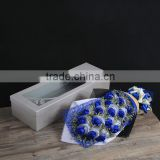 valentine's Day Blue rose soap flower bouquet with amazing flavor